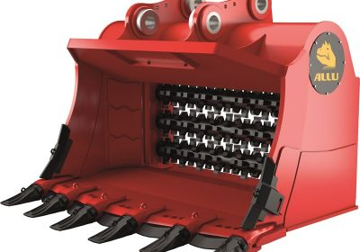 3D image ALLU M series, excavator, front