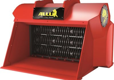 3D image ALLU Screener Crusher with blades, front